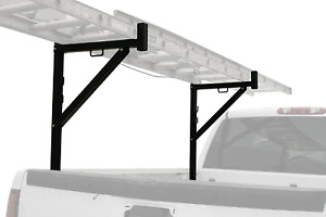 Ladder Rack Heavy Duty Black Steel Mount in Truck Bed Storage Adjustable