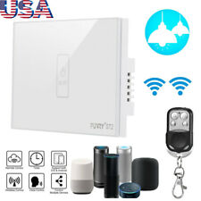 FUNRY WiFi Smart Curtain Switch Wall Light Touch Remote Control Glass Panel Home