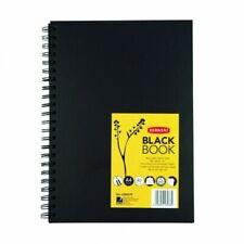 Derwent Hardback Sketch Book Black Paper - A4 Portrait