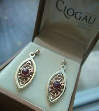 Welsh 9ct Clogau Gold & Ruby Celtic Queen Eleanor Earring  h/m 1998  -  Pierced