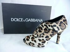 Dolce & Gabbana D&G Gr 37,5 Leo Ankle Booties Peep-Toes Pumps shoes neu UVP 664€