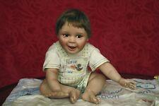 Ashton Drake All Porcelain Doll HANDLE WITH CARE Baby w/ Blanket Bird & COA 4lb