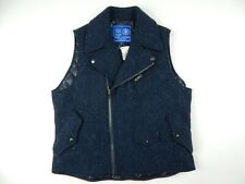$750 J. Press x Yale Blue Tweed Insulated Double Rider Vest Men's sz XL New