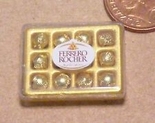 1:12 Scale Oblong Display Box Of Ferrero Rocher Chocolates Dolls House Sweets