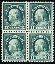 434, Mint VF NH 11¢ Well Centered Block of Four - Stuart Katz