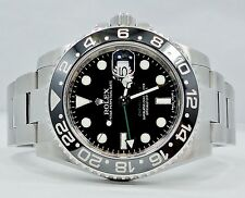 Rolex GMT-MASTER II 116710 Steel Black Ceramic Bezel PAPERS *MINT CONDITION*