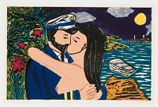 Richard Bosman : South Seas Kiss, 1981. Signed, Numbered, Fine Art Print