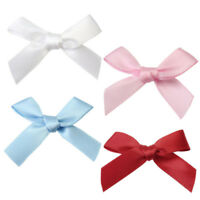 100 Pcs Mini Satin Ribbon Flowers Bows Gift Craft Wedding Decoration Pick-DIY