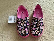Girls Skechers Solestice Puppy Smarts Slip-on Sneakers Black Pink - Big Girl US3