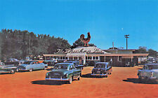 """Pensacola FL """"The Chicken Box"""" Drive-In Restaurant Old Cars Postcard"""