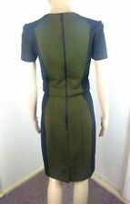Cue 6 8 Suit Skirt Blouse Set Contrasting Tailored Style Career Work Fashion