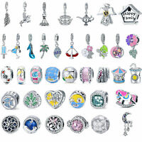 Women Optional 925 Sterling Silver Charms Beads Fit European Bracelet DIY Gifts