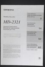 ONKYO MD-2321 Original Bedienungsanleitung/User-/Owner`s Manual!