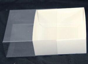 10 Square 10 x 4cm White Invitation Bomboniere Box Wedding Cookie Biscuit Favour