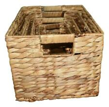 Handcrafted 4 Home Water Hyacinth Nesting Baskets, Brown (Set of 4)