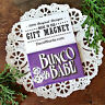 "DecoWords Fridge Magnet BUNCO BABE Party Favor Player GIFT New USA Purple 2""x3"""