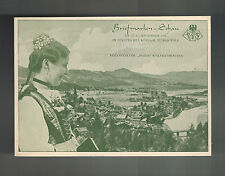 1938 Ruppersdorf Germany Sudetenland Provisional Stamp Day Postcard Cover