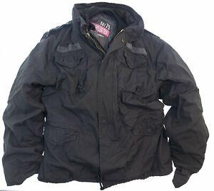 Surplus TEX M65 Regiment schwarz M Herren Winter Outdoor Jacke