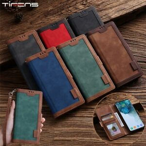 Luxury Retro Leather Magnetic Case For iPhone XS Flip Wallet Card Holder Stand