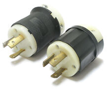 Assorted Brands NEMA L5-30P 125V 30 Amp 3W 2P Twist Lock Male Plug