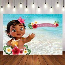 Moana Baby Show Photography Backdrop 1st Birthday Party Girls Decor Photo Studio