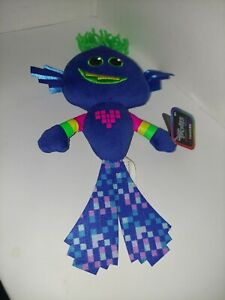 "Dreamworks Trolls World Tour Techno King Trollex 9"" Small Plush  Toy Doll New"