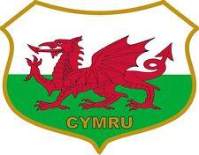Welsh Dragon Flag Caravan Scooter Exterior Vinyl Stickers Wales Cymru Decals