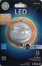 GE 40 Watts LED Decorative Globe Soft White with a Clear Finish 350 Lumens