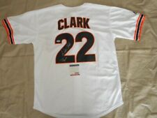 Signed Throwback Giants Authentic Autographed Jersey by Will Clark