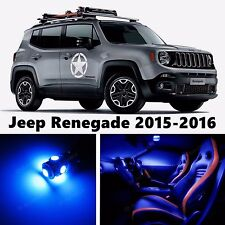 13pcs LED Blue Light Interior Package Kit for Jeep Renegade 2015-2016