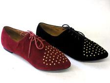 Zapatos planos de mujer rojos textiles