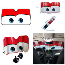 Red Big Eyes Cartoon Aluminium Foil Visor With Sunction Cups for Car Windshield