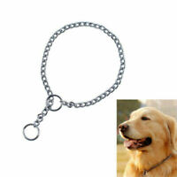 Stainless Steel Chain Collar Necklace Training Walking Collars For Pet Dogs