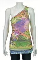 ROBERTO CAVALLI One-Shoulder Sequined Tank Top SIZE IT40 US 4 / Small