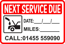Service Reminder Sticker Personalized With YOUR Number Garage Sticker  QTY 100