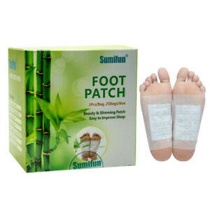 50x Detox Foot Patch Pads Natural plant Toxin Removal Sticky Herbal Adhesives