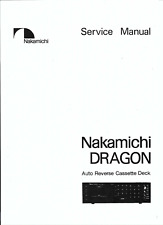 Nakamichi  Service Manual  für Dragon englisch  Copy