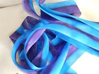 "100% Silk Ribbon-Hanah Hand Dyed, Bias Cut 11/2"" Mother Spirt 4 Continuous Yards"