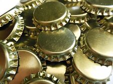 144 Gold Crown Caps Standard 26.5 Size Soda Mead Beer Bottles Lined NEW Capping