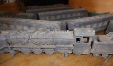 Ancien décor de cinéma 1930's train locomotive wagons