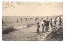 donville-les-bains  la plage l'heure du bain ,effets de vagues