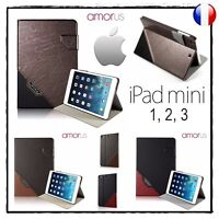 Etui Coque Housse AMORUS Design Smart Leather Cover Case iPad Mini 1, 2 et 3