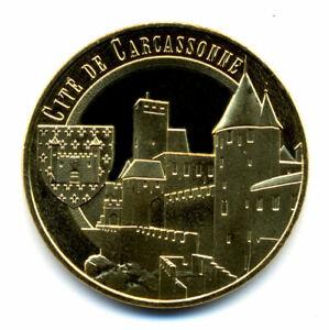 11 CARCASSONNE Cité, Château et blason, 2021, Monnaie de Paris
