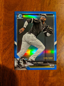 2018 Bowman Chrome Draft Luis Robert Blue Refractor #/150