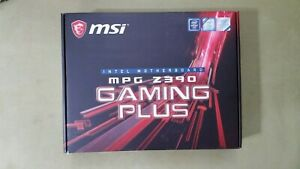 MSi MPG Z390 Gaming Plus Intel Motherboard Box with insert ***BOX ONLY***