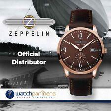 Zeppelin Flatline Quartz Extra slim watch Rose Gold 39mm case Brown dial  7336-5