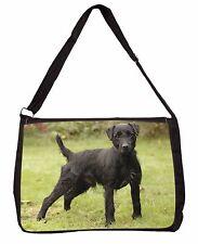 Fell Terrier Dog Large Black Laptop Shoulder Bag Christmas Gift Idea, AD-FT1SB