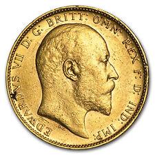1902-1910-P Australia Gold Sovereign Edward VII Avg Circ - SKU #91540