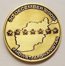 "CIA NCS SAD SOG Khowst Afghanistan In Remembrance FOB Chapman 30 Dec 2009 1.75"""