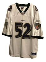 RAY LEWIS Authentic On Field BALTIMORE RAVENS Reebok Jersey Sewn Embroidered 4XL